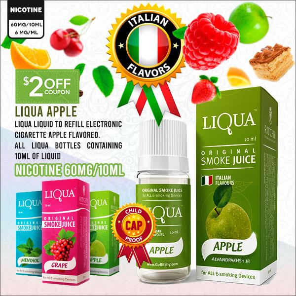 ایجوس لیکوا سیب Apple با نیکوتین ۶٠ میلی گرمی