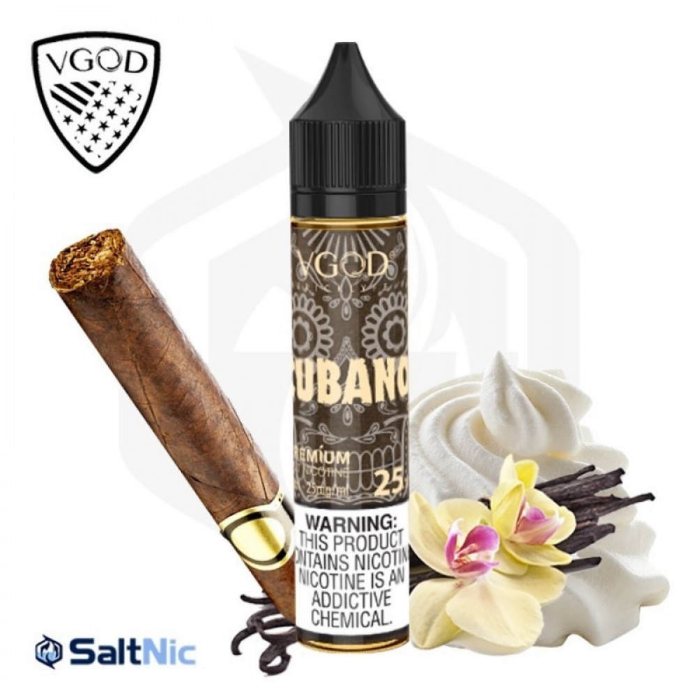 سالت نیکوتین ویگاد تنباکو خامه وانیلی VGOD CUBANO Rich Creamy Cigar Salt Nicotine