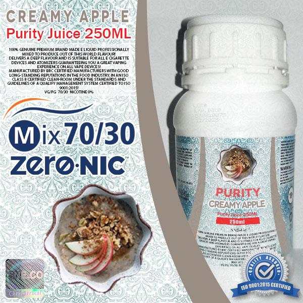 ایجوس طعم طبیعی سیب خامه پیوریتی ٢۵٠ میلی لیتری