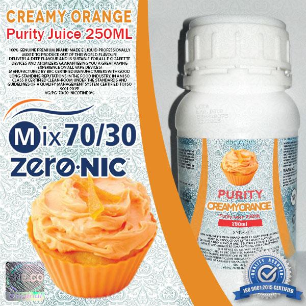 ایجوس طعم طبیعی پرتقال خامه پیوریتی ٢۵٠ میلی لیتری
