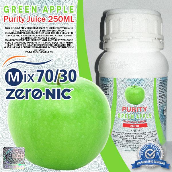 ایجوس طعم طبیعی سیب سبز پیوریتی ٢۵٠ میلی لیتری