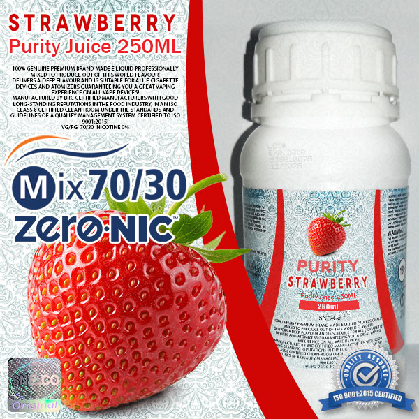 ایجوس طعم طبیعی توت فرنگی پیوریتی ٢۵٠ میلی لیتری